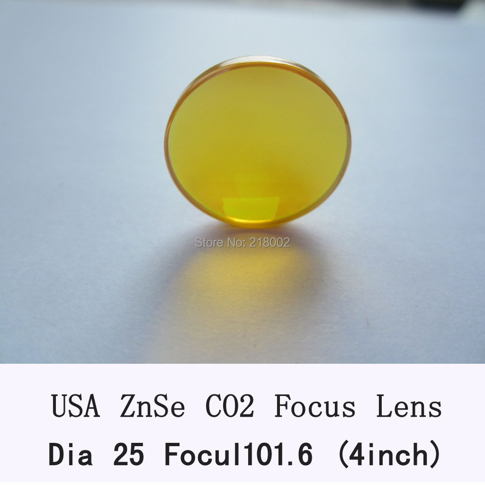 USA CVD ZnSe Focus Lens 25mm Dia 101.6mm Focal for CO2 Laser co2 laser engrave machine co2 laser cutting machine chinese znse co2 laser lens 18mm dia 63 5mm focus length for laser cutting machine