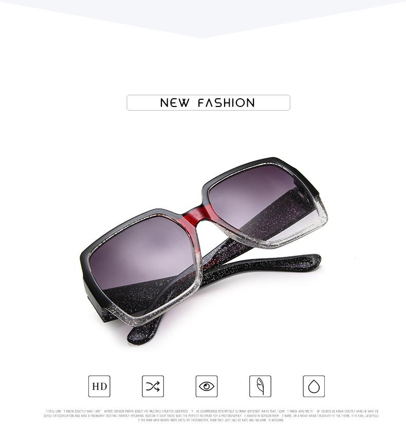 19 Oversized Sunglasses for Women Brand Designer Retro Sun glasses Red Green Shades Eyewear sunglasses woman 3