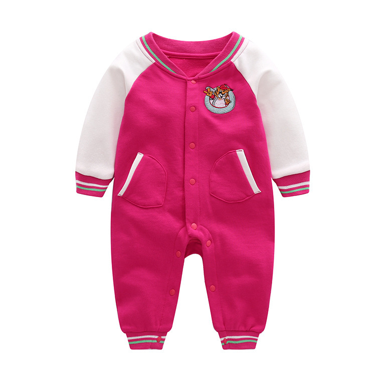 Купить с кэшбэком Newborn Baby Rompers Baby Clothing Set Spring Autumn Cotton Infant Jumpsuit Long Sleeve Girls Boys Rompers Costumes Baby Romper