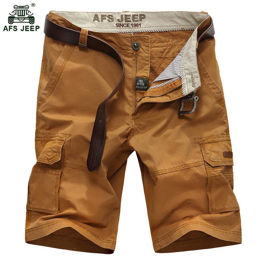 New 2018 Men's Summer Leisure Shorts Men Multi pockets Cargo Shorts Straight Knee Length Plus Size 44 Casual Shorts Men 66wy
