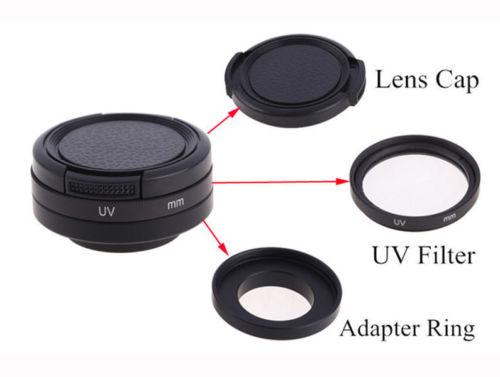 5in1 Optical Glass 37mm CPL Filter UV Lens Adapter Protecting Cap Rope for <font><b>Gopro</b></font> <font><b>Hero</b></font> 3 HD 3+<font><b>4</b></font>