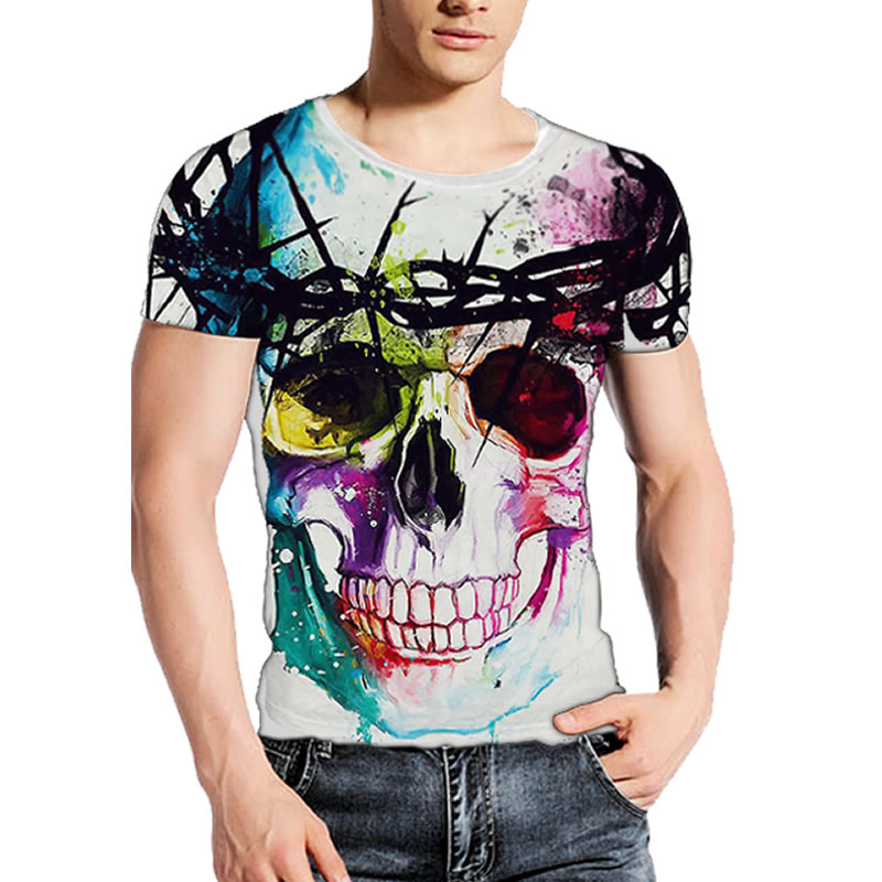 B3 2017 Summer High Quality Punisher Skull T Shirt 3d For Men/Women Sexy beach Naked Nude T-shirt Homme Tees Tshirt Plus Size XX