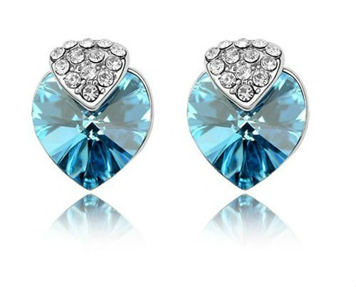 Free Shipping~Factory wholesale hot sell fashion design cute heart shape crystal Earrings