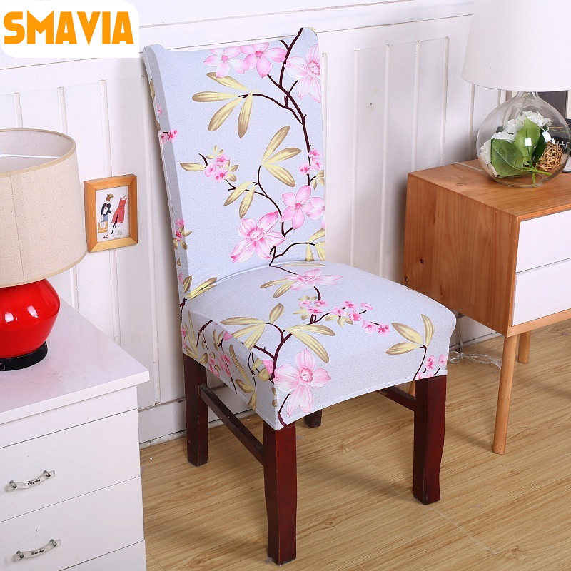 dining room chair slipcovers floral design | Fashion Flower Design Dining Chair Cover Anti Dirty ...
