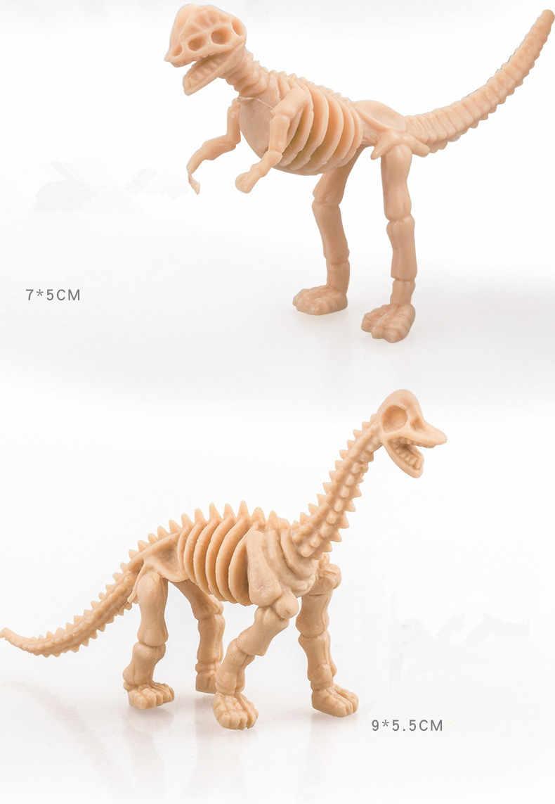 6Pcs Dinossauros Simulação Esqueleto Mini Miniaturas Modelo de Dinossauro Tiranossauro Rex Figuras de Brinquedo Educativo para Crianças Decoração De Casa de Bonecas