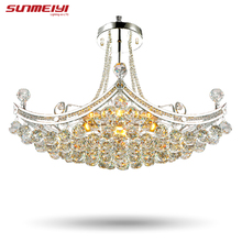 2016 New Style Crystal Chandelier Lighting Fixture Crystal Light Lustres de cristal for Living Room Ceiling Lamp Free Shipping