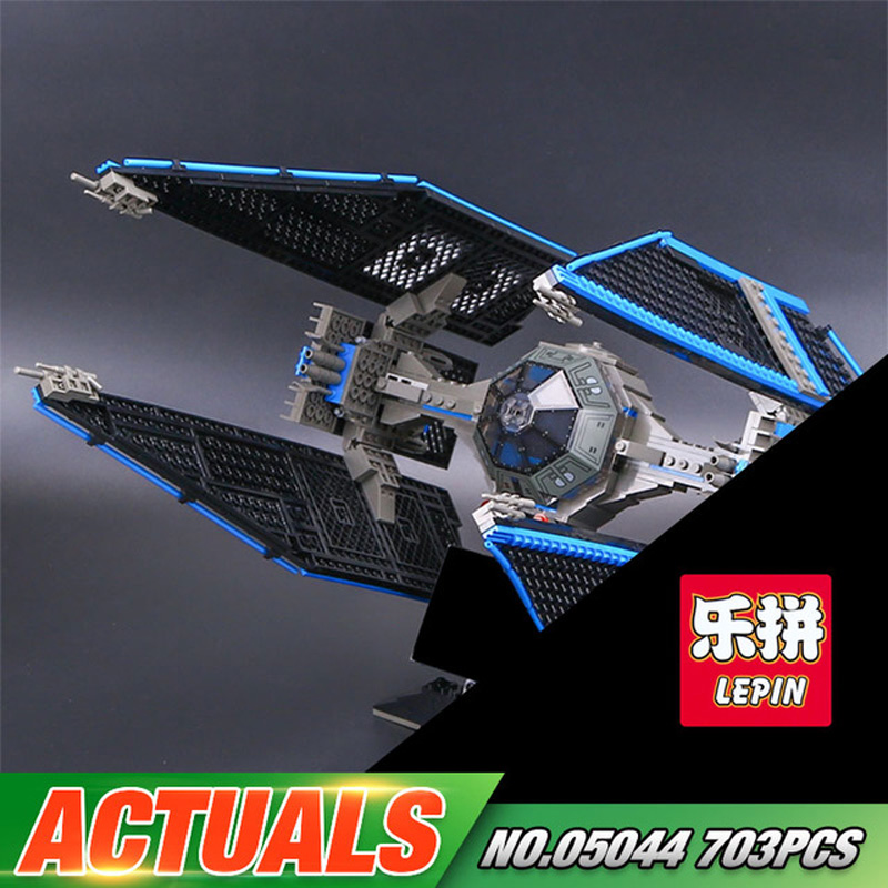 LEPIN 05044 Star Series TIE Interceptor Model Building Blocks Compatible Bricks Kit Kid Military War Classic Toy Child Gift 7181 05044 star ship wars limited edition tie interceptor model building kit blocks bricks toys compatiable with lego kid gift set