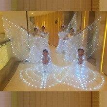 Женское балетное платье-бабочка с крыльями, детская балетная юбка, взрослый балетный танцевальный плащ, светящийся светодиодный светящийся реквизит для танцев