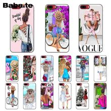 Babaite VOGUE Christmas Princess Girl Female boss coffee Phone Case for iPhone 6S 6plus 7 7plus 8 8Plus X Xs MAX 5 5S XR