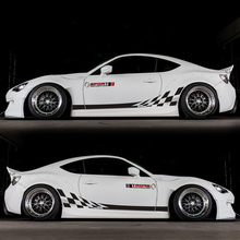World Datong  Auto Body Customized Decal car sticker For Toyota 2013-2018 86 BRZ Both side body sport auto stickers