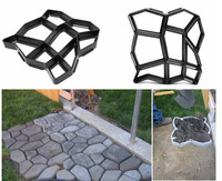 Urijk Garden Path Maker Molds Walk Pavement Concrete Mould DIY Manually Paving Cement Brick Stone Road