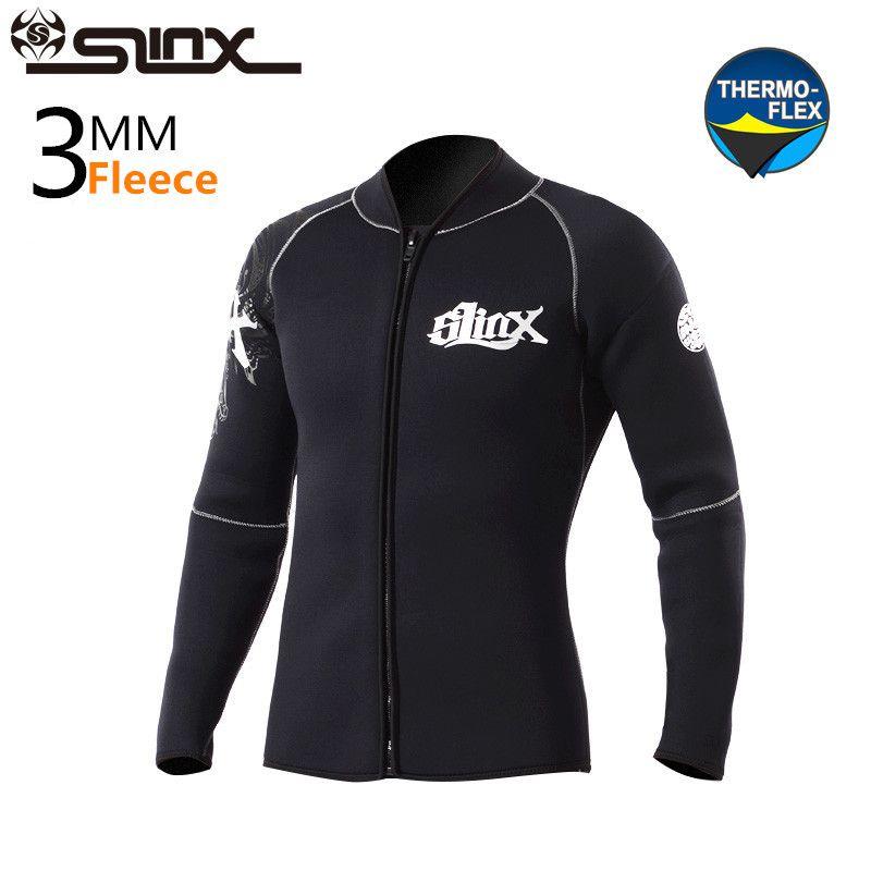 SLINX 3mm Neoprene Winter Warm Wetsuit Jacket Men s Rash Guard Scuba Diving Swimwear Kite Surfing