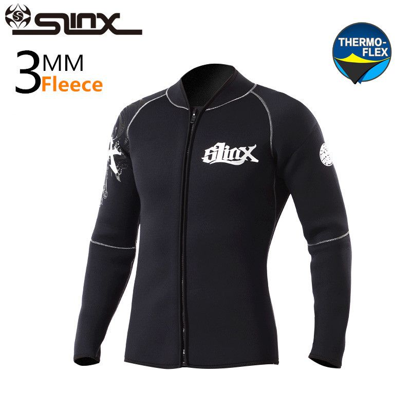 SLINX 3mm Neoprene Winter Wetsuit Jacket Men Rash Guard Scuba Diving SwimwearKite Surfing Snorkeling Swimsuit 2016 new styles summer diving wetsuit for men father day s gift summer surfing costumes fine embossed wetsuit a1616