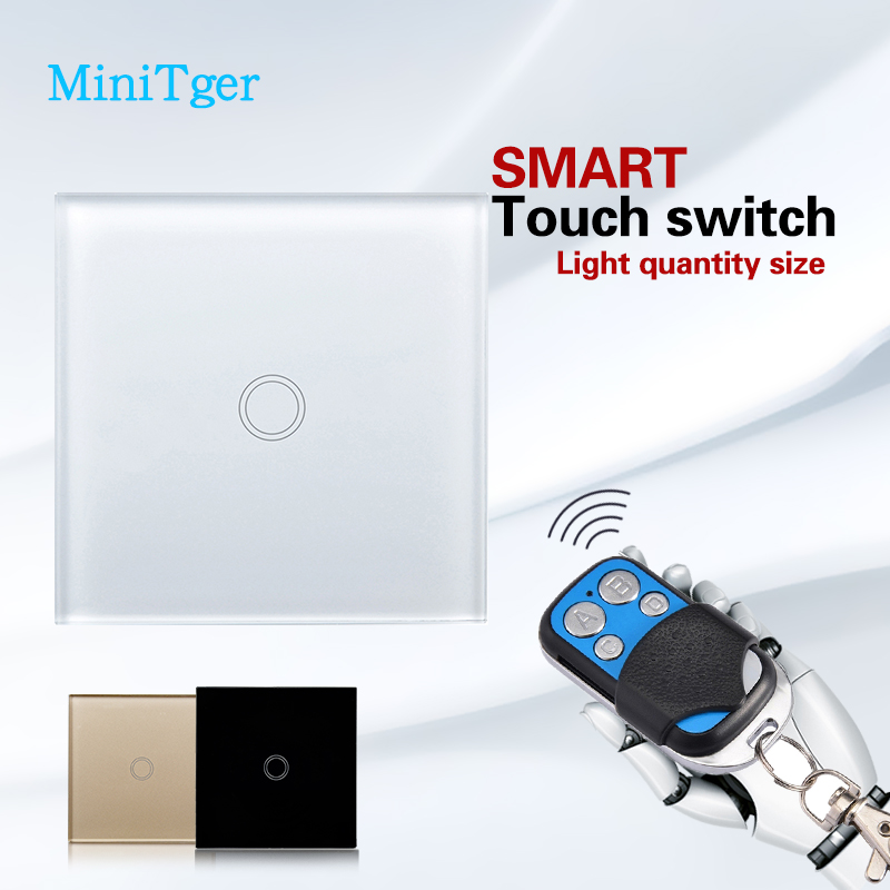 Smart home Touch Switch,EU Standard 1 Gang 1 class White Crystal Glass Panel, AC170~250V, LED indicator,Touch Screen Switch smart home touch control wall light switch crystal glass panel switches 220v led switch 1gang 1way eu lamp touch switch