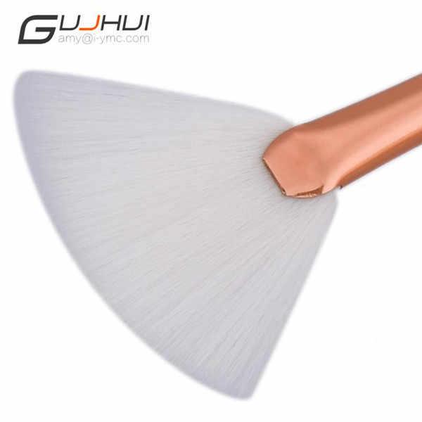 Gujhui Новый 1 шт. вентилятор кисти Diamond Портативный Тонкий Профессиональный макияж Кисти Фонд консилер Make Up Кисти maquiagem