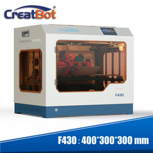 3d printer Creatbot F430 metal dual extruders full closed large color touch screen print size 400*300*300 mm 2 nozzle