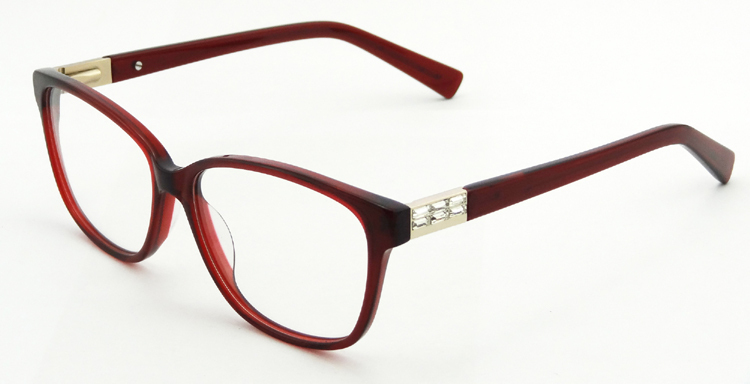 factory direct decorative acetate eyeglasses frame high quality spectacles frame prescription glasses with plain mirror 4589