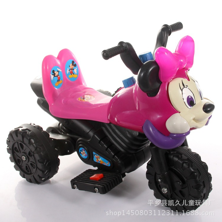 The New Popular Child Electric Micky Motorcycle Tricycle Battery Car Cartoon Toy Car Can Sit