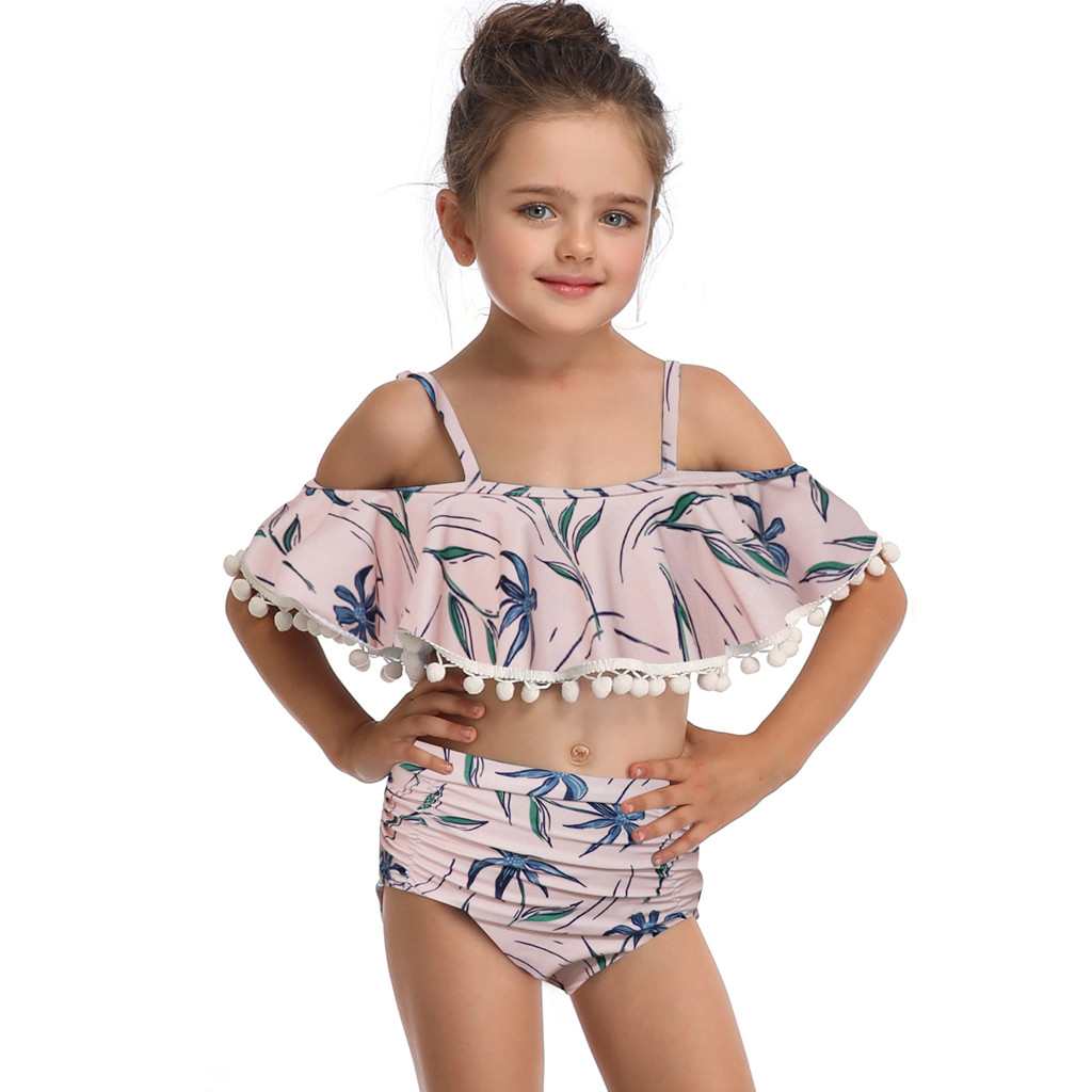 Swimwear Shorts Swimsuit Set Kids Swimwear For Girls F1 Moderate Price 2019 Szyadeou Summer Kids Kids Girls Print Bikini Beach Sling Swimwear
