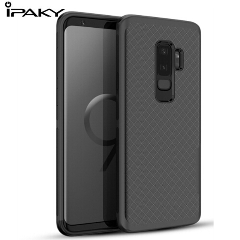 IPAKY 360 shockproof Cases For Samsung Galaxy S9 Plus Case Silicone TPU Soft Back Cover Case Coque For Samsung S9 With PC Frame
