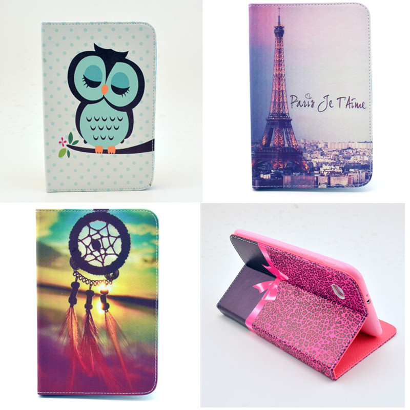 P3100 Cases For Samsung Galaxy Tab 2 7.0 Inch Flip PU Leather Stand Case P3100 P3110 Cute Flower Lovely Tablet PC Cover