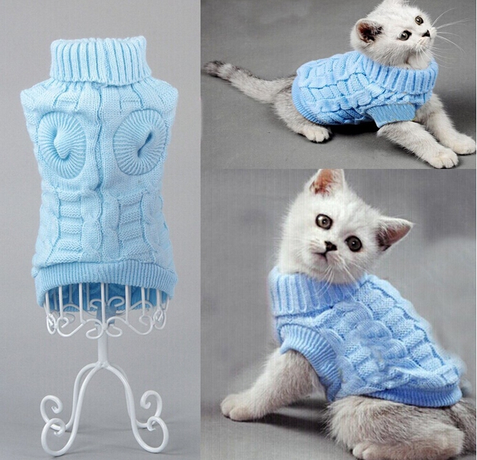 NYHET Dog Cat Sweater Sphinx Cat Coat Spagetti Varm Høst Vinter Pet - Pet produkter - Bilde 5