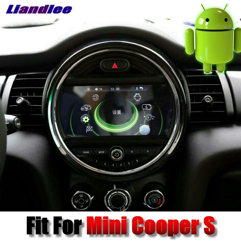 Liandlee Car Multimedia Player NAVI For Mini Cooper S 2016~2018 Android system With iDrive Button Car Radio GPS Navigation