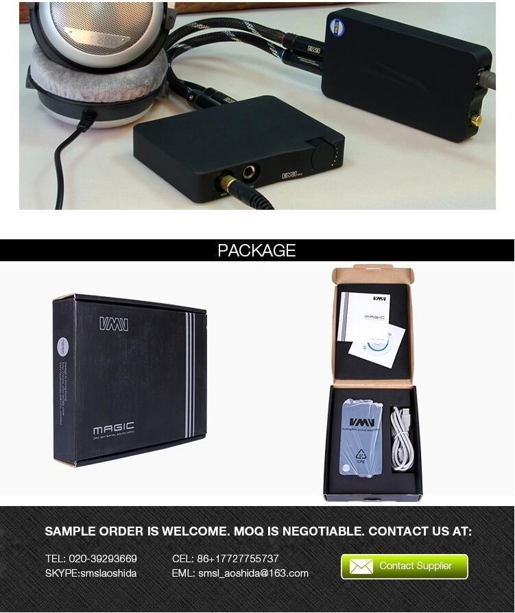 2016 חדש SMSL/VMV קסם דיגיטלי USB-DAC מפענח 32bit/192KHz קואקסיאליים HiFi מגבר אוזניות למחשב המחשב 32bit/384kHz RCA