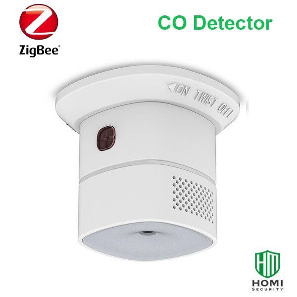 Heiman hs1ca zigbee sem fio inteligente sensor de monóxido carbono co detector funciona com assistente casa