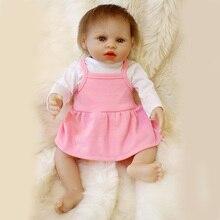 40 cm Grils Bonecas Bebe Reborn Bebê Silicone com Vestido de Dormir Cesta Bebê Reborn Bonecas de Brinquedo Meninas SDK-102P2 Brinquedos para crianças