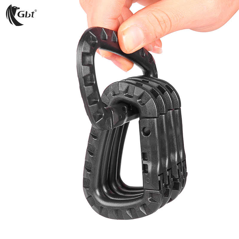 Black Huture 4 Pack Ultra Sturdy Aluminum Alloy Durable Hook Bulk Carabiner Clips D Ring Spring Loaded Caribeaner Swing Hammocks Camping Locking Dog Leash and Harness Outdoor Keychain Keyrings
