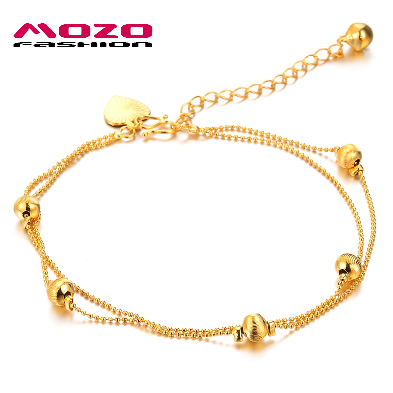 gold handmade cut yellow chain rope products diamond anklet
