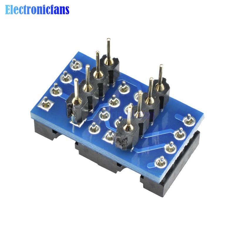 Dual DIP8 to DIP8 Mono Opamp PCB+Pin+Socket for NE5532 TL072 P07 OPA2132 OPA627