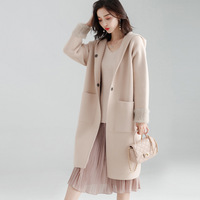 Hooded Coat Women Nylon Blended Fabric Pockets Covered Button Solid 3 Colors Casual Coat England Style 2019 New Fashion