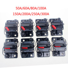 Купить с кэшбэком 50-300A AMP Circuit Breaker Dual Battery IP67 Waterproof 12V 24V Fuse Manual Reset Car Circuit Breaker