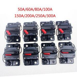 50-300A AMP Circuit Breaker Dual Battery IP67 Waterproof 12V 24V Fuse Manual Reset Car Circuit Breaker(China)
