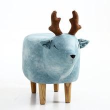 Домашний низкий табурет, Маленькая деревянная скамейка с животными из мультфильмов для детей/детей, стул для гостиной, маленький чайный столик, диван, кожаная ткань