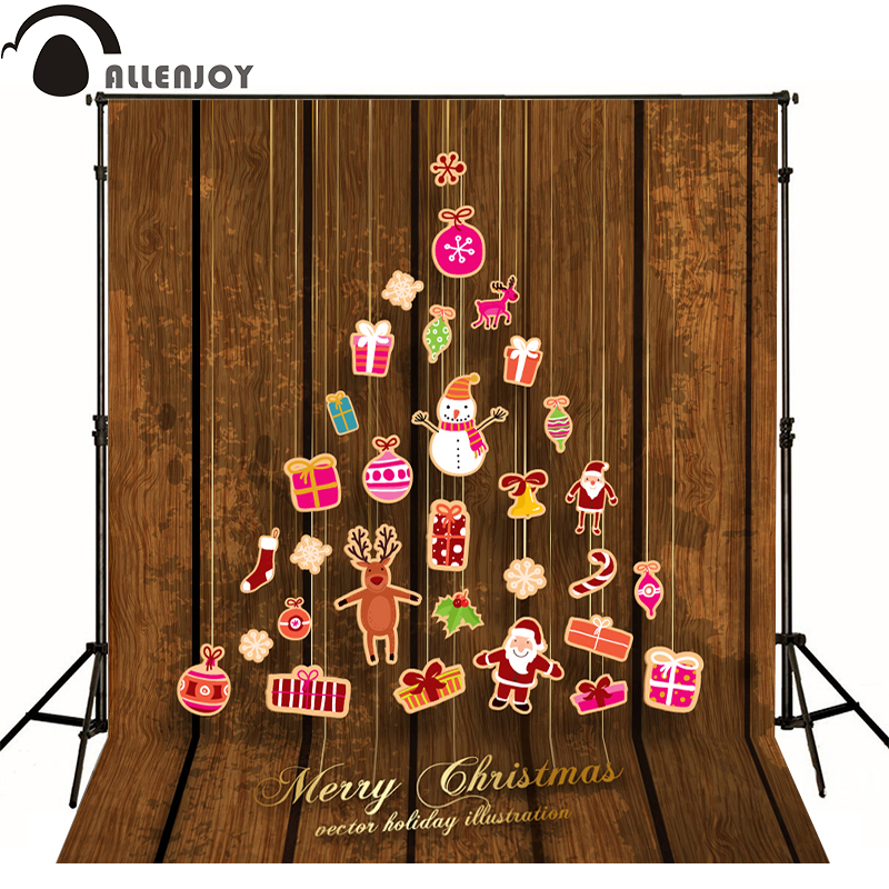 Allenjoy photographic background wood lamp redindeer santa Claus kids cute professional fabric send folded backdrops for sale allenjoy photographic background shovel excavators construction crane car kids backdrops send rolled camera fotografica wall