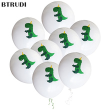 Dinosaur Balloons Birthday Party Decor Kids Happy Tyrannosaurus Rex Baloons Toys