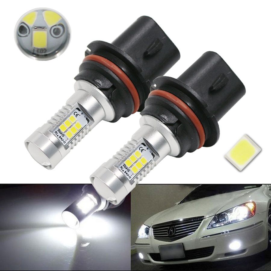 Super Bright White High Power 9007 HB5 2835 SMD 21 LED Car Light Source Auto DRL Fog Lights Lamp Bulb DC12V