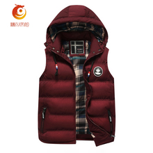 High Quality Mens Jacket Sleeveless veste homme Winter Fashion Men's Warm Vest Casual Hat Detachable Hooded Cotton Vest M- 3X