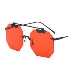 Óculos de sol quadrado sem aro para as mulheres lente gradiente  transparente armação metal uv400 top quality óculos sol fml 863ba0b496