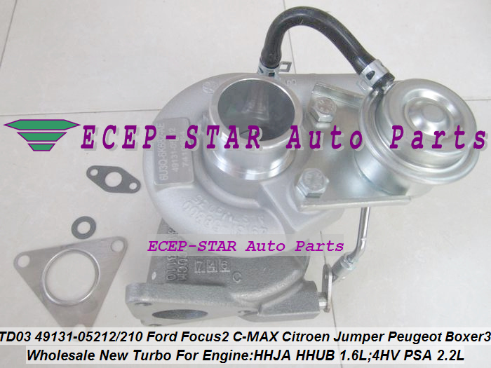 TD03 49131-05212 0375K7 Turbo For Ford For Focus 2 Fiesta VI HHJA HHUB 1.6L For Citroen Jumper For Peugeot Boxer 3 4HV PSA 2.2L (5)