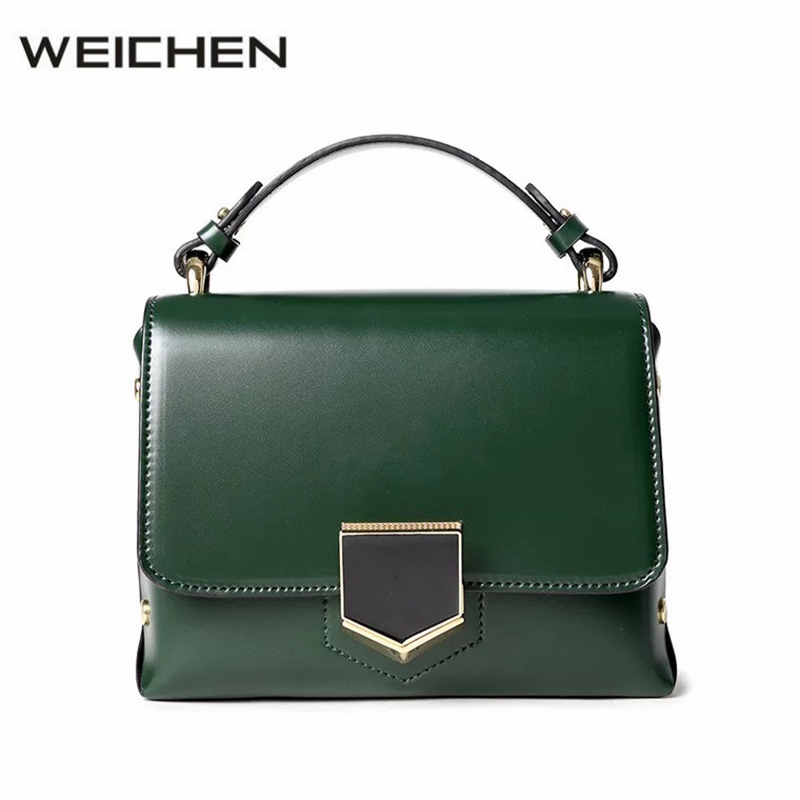 Ladies Hand Bags 2018 Green Chain Solid Shoulder Bag Female Women Messenger Bags Crossbody Flap Bag PU Leather Womens Handbags fashion new design pu leather lotus wave female chain purse shoulder bag handbag ladies crossbody messenger bag women s flap