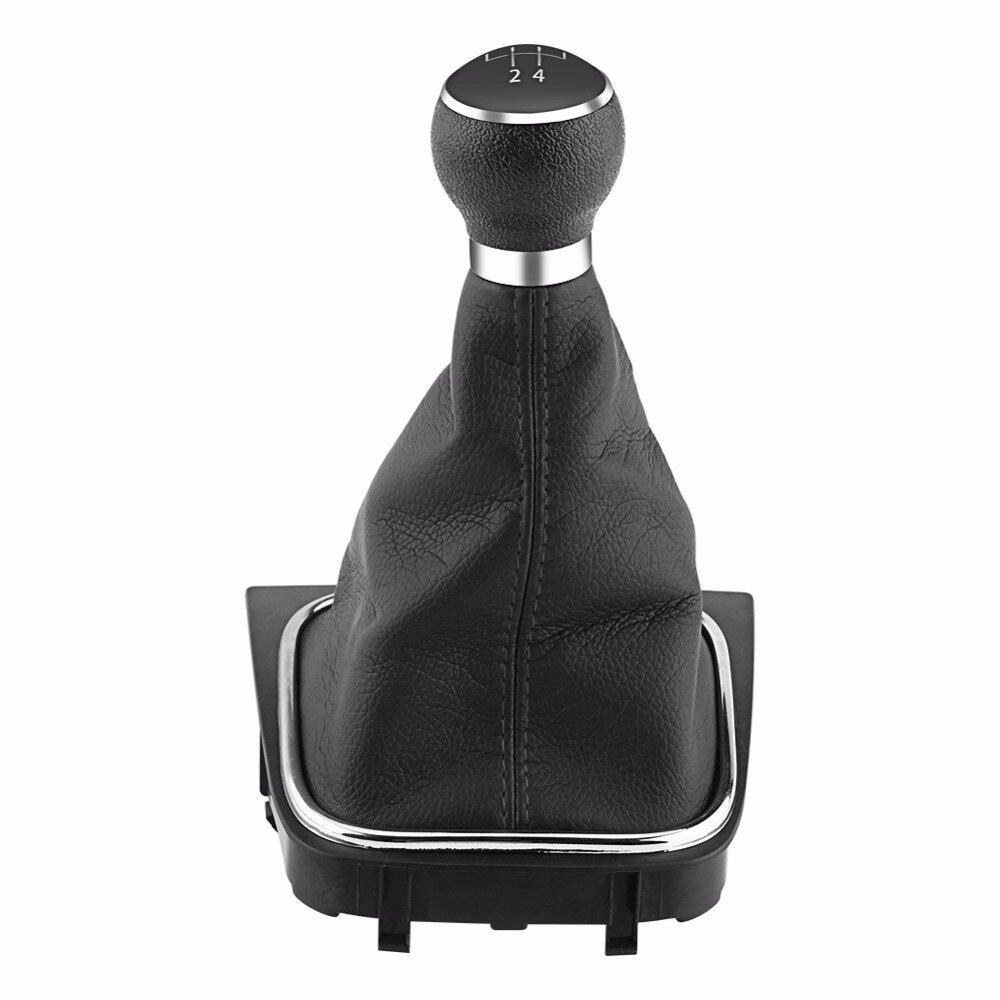 For Mazda 6 2008 2013 Gear Gaiter Shifter Boot Black Leather New: 5 Speed Car Gear Shift Knob Gearstick Gaiter Boot Kit For VW Golf 6 MK5 MK6 Jetta 2005 2014