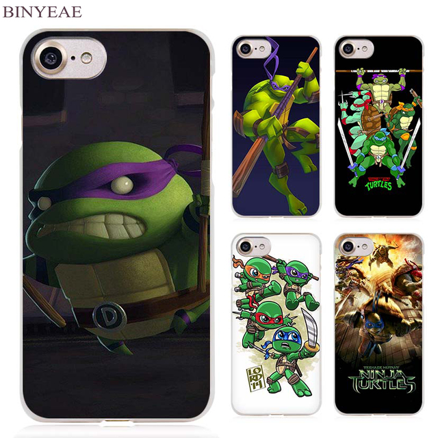 hot sales a72d8 f637b US $1.91 34% OFF|BINYEAE Teenage Mutant Ninja Turtles Clear Cell Phone Case  Cover for Apple iPhone 4 4s 5 5s SE 5c 6 6s 7 7s Plus-in Half-wrapped Case  ...