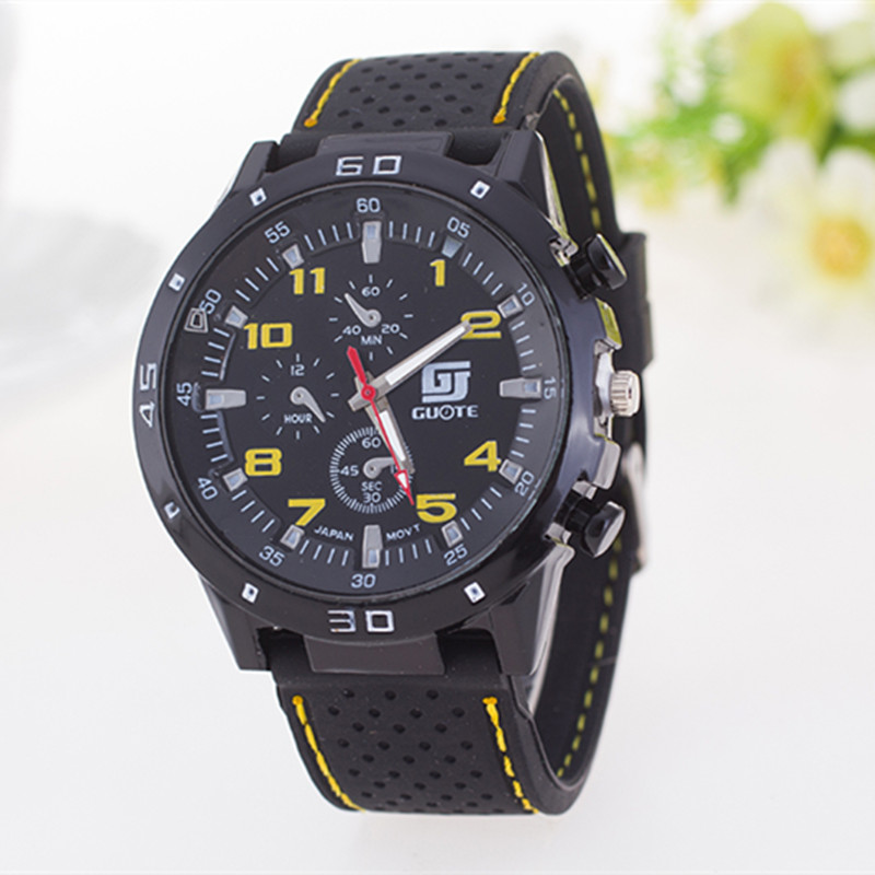 HOT Men sport watches Guote Brand Military Watches Men Silicone Band army wristwatch 2017 new fashion Business man Quartz watch free drop shipping 2017 newest europe hot sales fashion brand gt watch high quality men women gifts silicone sports wristwatch