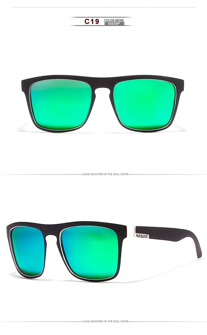 3ba4469584436 KDEAM Boa qualidade Polaroid lente Polarizada Óculos De Sol Dos ...