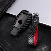 Carbon fiber +PC car key cover case for Mercedes benz CLS CLA GL R SLK AMG A B C S class Remote holder accessories keychain