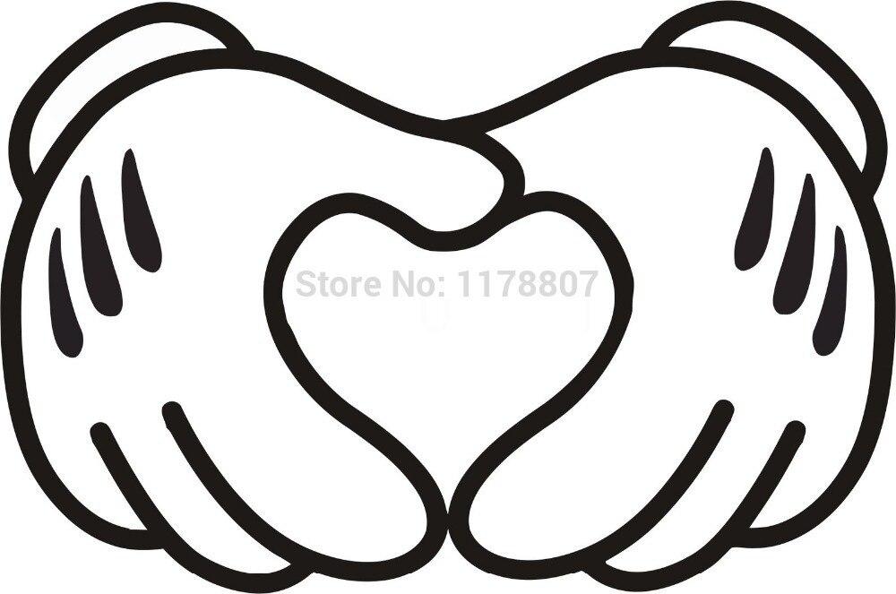 40 Unidslote M Manos Claves Corazón Pegatina Para Parabrisas